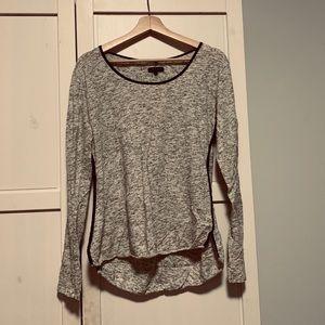 rag & bone long sleeve gray shirt size large